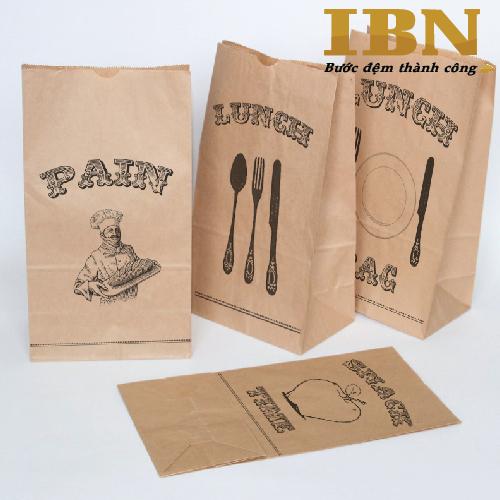 Túi giấy đựng bánh mì IBN - In Bảo Ngọc