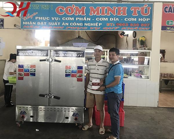 Tủ cơm công nghiệp Quang Huy được nhiều quán cơm, nhà hàng,... tin dùng