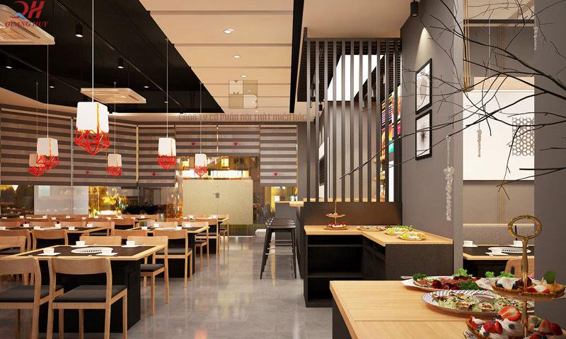 Nội thất bên trong quán ăn, nhà hàng cần được lựa chọn kỹ càng