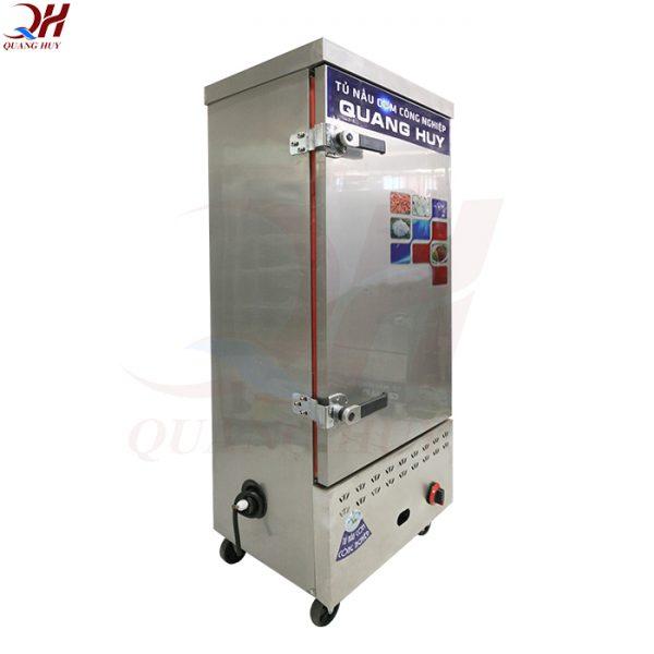 Tủ cơm công nghiệp 10 khay gas + điện tích hợp tại Quang Huy