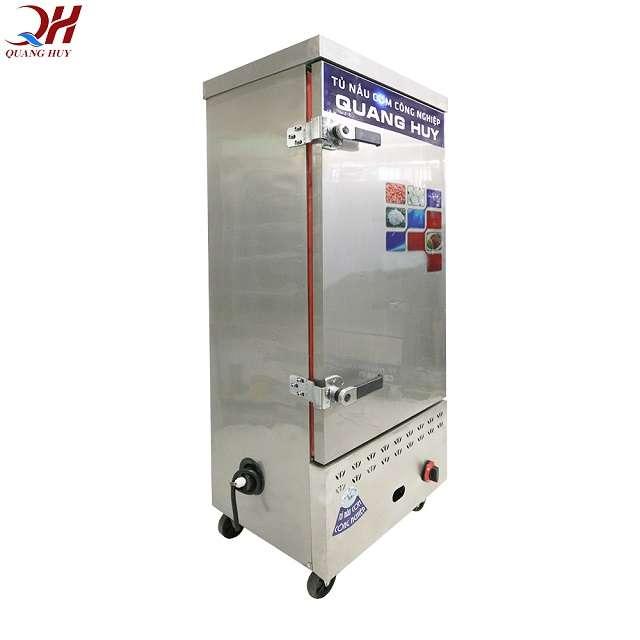 Tủ nấu cơm 12 khay có thể linh hoạt sử dụng điện gas