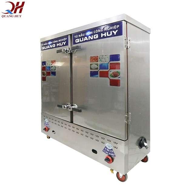 Chất liệu tủ nấu cơm 24 khay inox 304 chống gỉ cách nhiệt dày dặn