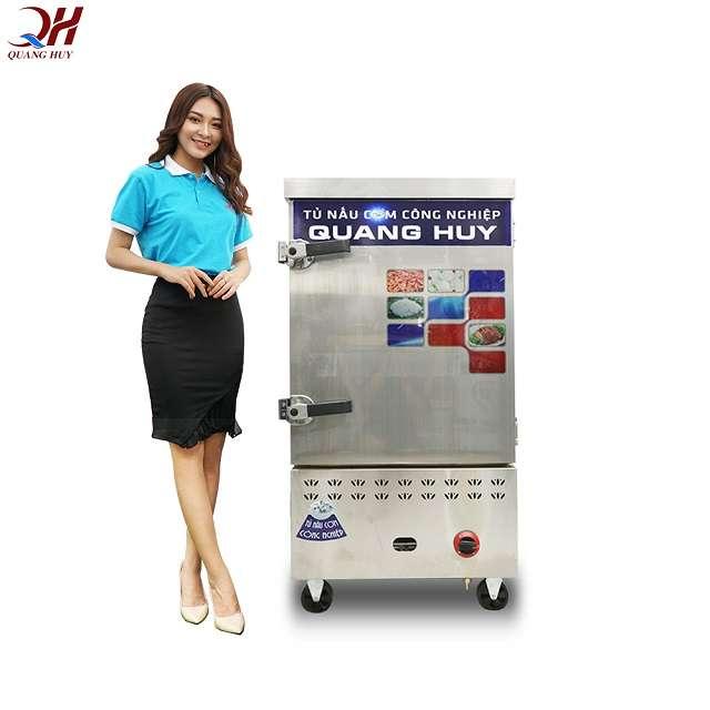 Quang Huy địa chỉ phân phối tủ nấu cơm 8 khay điện gas uy tín