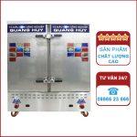 Tủ nấu cơm công nghiệp 24 khay dùng Gas và điện