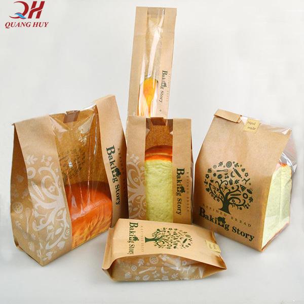 Túi giấy bọc bánh mì Kraft