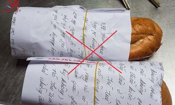 Không nên dùng lại các loại giấy cũ