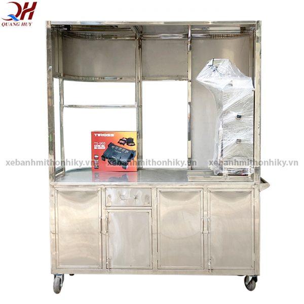 Xe đẩy bánh mì Quang Huy được làm từ Inox 304 cao cấp
