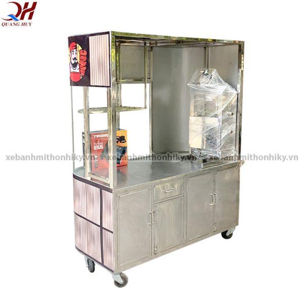 Xe bánh mì thổ nhĩ kỳ Quang Huy được bố trí lò nướng thịt cao cấp