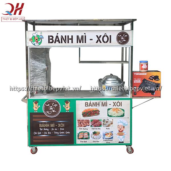 Mẫu xe bánh mì xôi 1m5 mới nhất 2020 của Quang Huy
