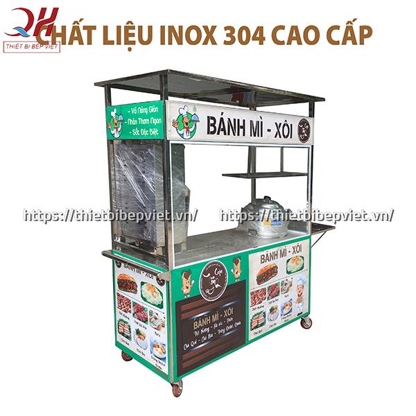 Xe bánh mì Inox 304 cao cấp tại Quang Huy