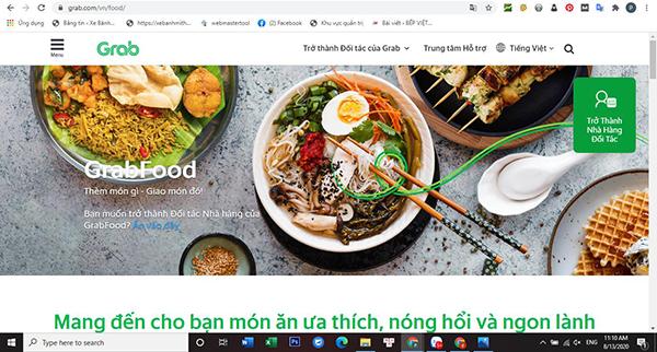 Bạn sẽ tiến hành đăng nhập tài khoản trên grap food