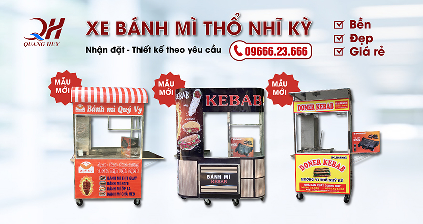 Xe bánh mì Kebab các loại