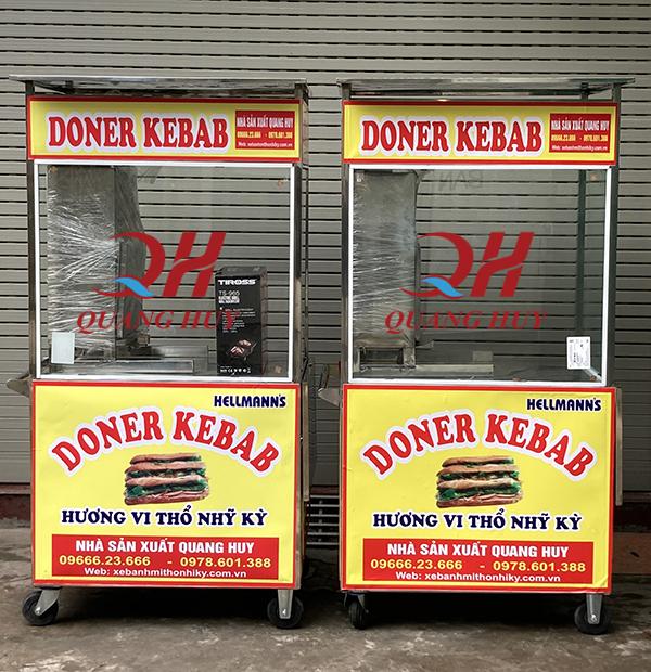 Mẫu xe bánh mì doner kebab 90cm
