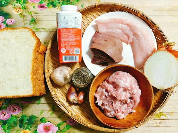Nguyên liệu để làm pate gan lợn