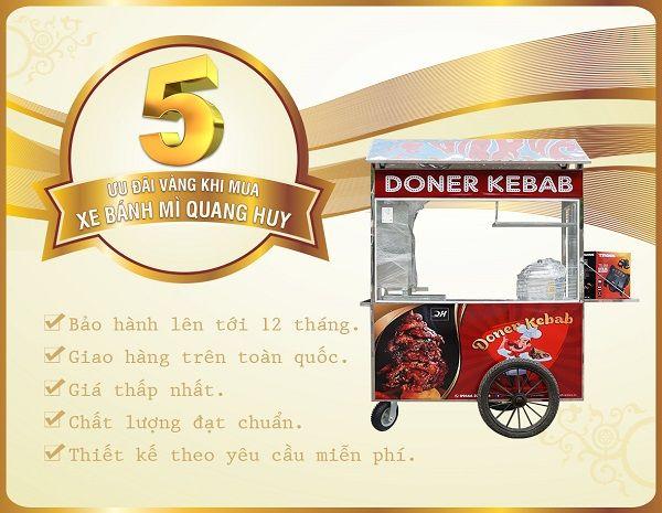 Bạn sẽ nhận được những ưu đãi cực hấp dẫn khi mua xe bánh mì tại Quang Huy