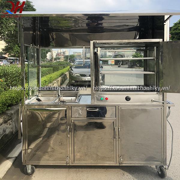 Cấu tạo xe bán đồ ăn Quang Huy