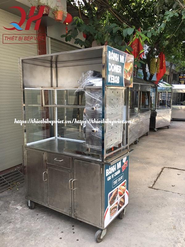 Xe Bánh Mì Doner Kebab 1M2 Mẫu Mới
