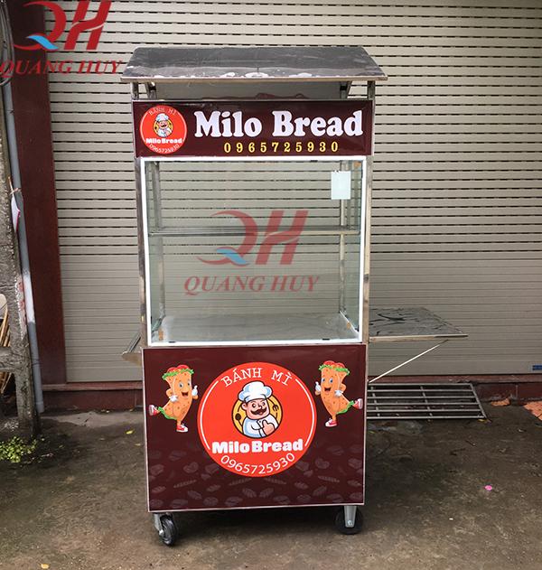 Xe bánh mì milo 70cm