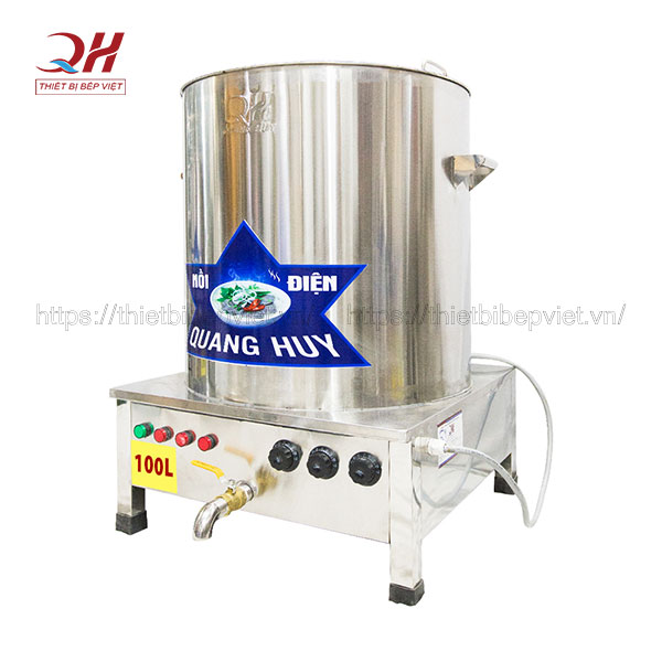 Nồi điện nấu phở, bún riêu 100 lít Quang Huy