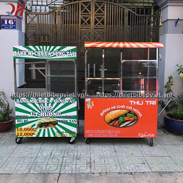 Xe bánh mì chả cá giá rẻ của Quang Huy