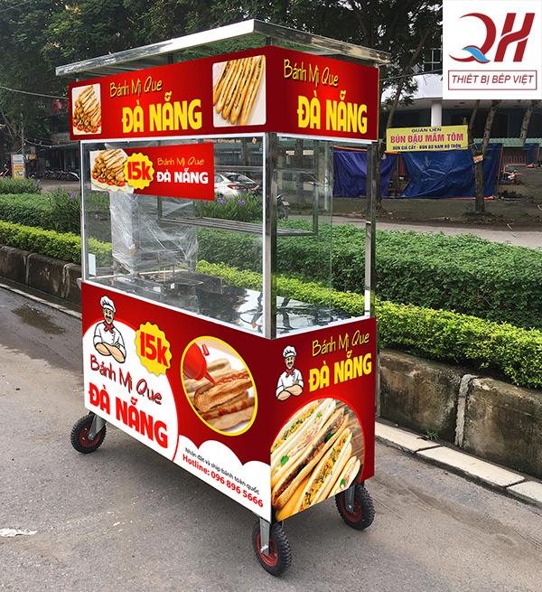 Xe bánh mì que Đà Nẵng Decal đỏ