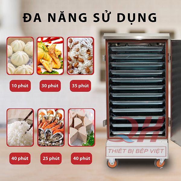 Tủ nấu cơm công suất lớn chức năng nấu đa dạng