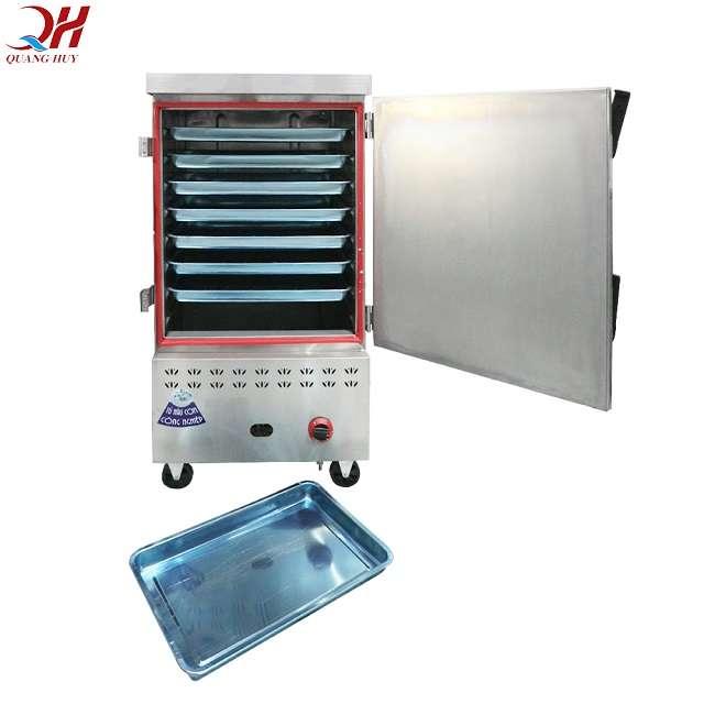 Tủ cơm công nghiệp 10 khay có thể nấu lên đến 30kg / 1 mẻ