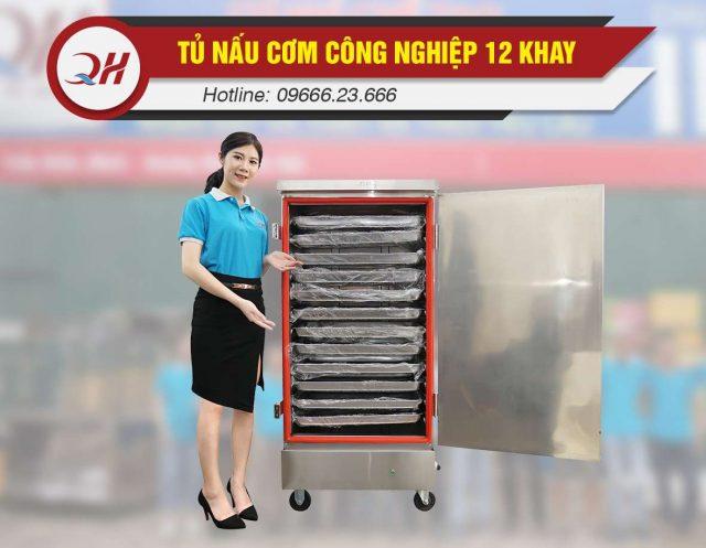 Nguyên lý hoạt động tủ nấu cơm 12 khay điện