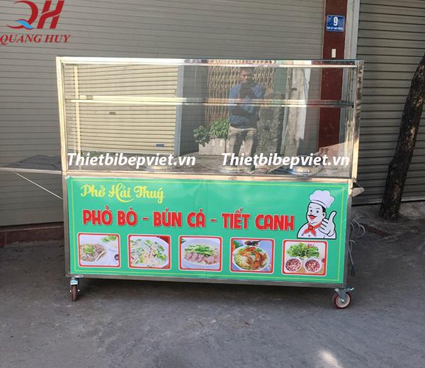 Xe bán bún phở tích hợp nồi nấu phở điện
