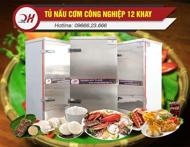 Tủ cơm công nghiệp với khả năng nấu hấp đa năng tiện lợi