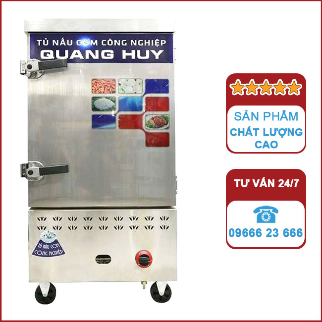 Tủ nấu cơm công nghiệp 8 khay bằng Gas