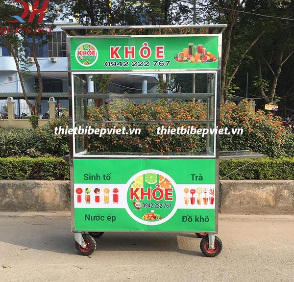 Xe bán nước ép trái cây do Quang Huy sản xuất và phân phối