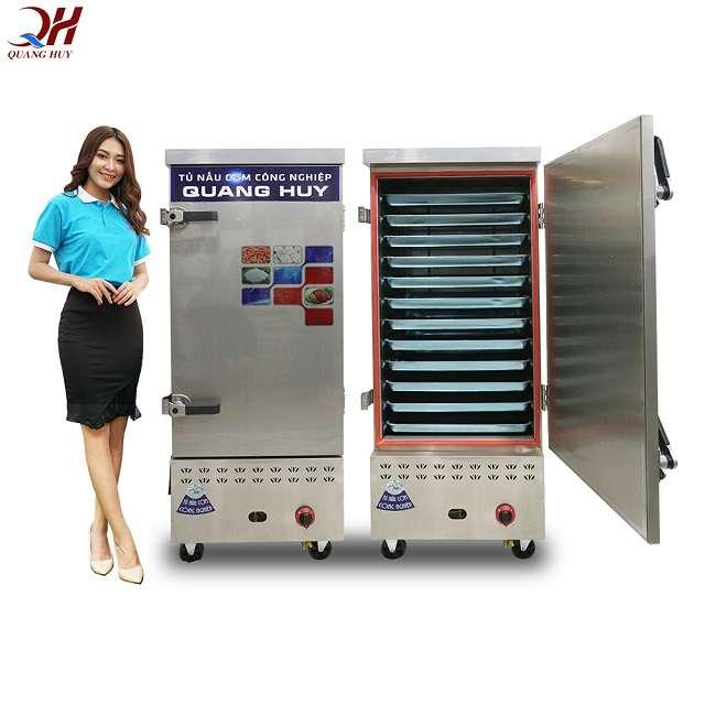 Tủ nấu cơm 12 khay gas điện