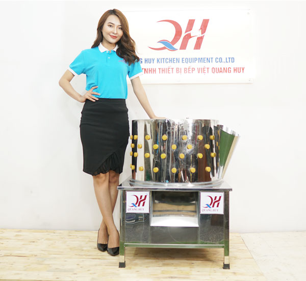 Máy đánh lông gà vịt Quang Huy sản xuất và phân phối trực tiếp