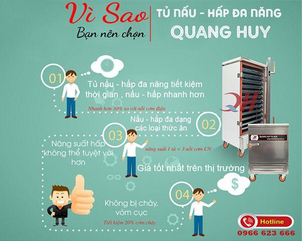 Tại sao nên chọn mua tủ nấu cơm loại nhỏ Quang Huy
