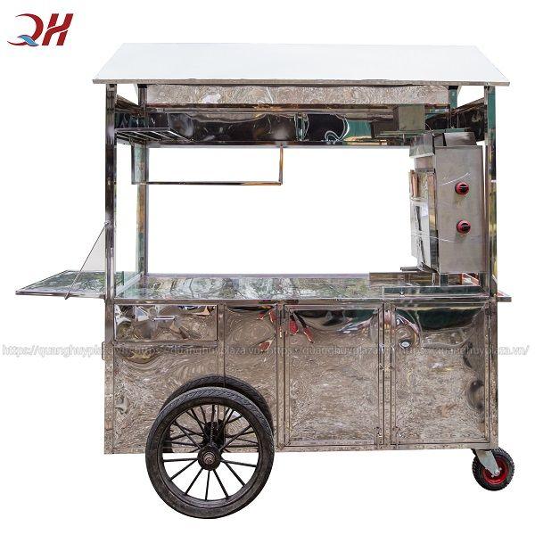 Sản phẩm xe bánh mì được làm từ Inox 304 sẽ có giá thành cao hơn so với xe bánh mì làm từ Inox 201