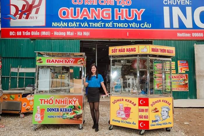 Xưởng sản xuất xe bánh mì Quang Huy