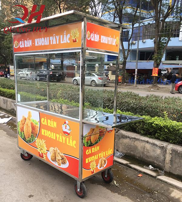 Đặc điểm cấu tạo xe bán gà rán Quang Huy