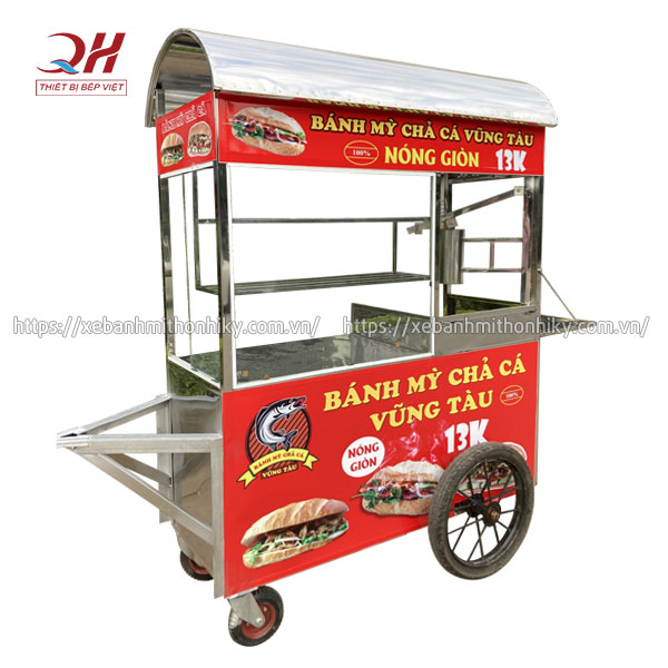 Xe bánh mì chả cá Vũng Tàu Quang Huy sản xuất