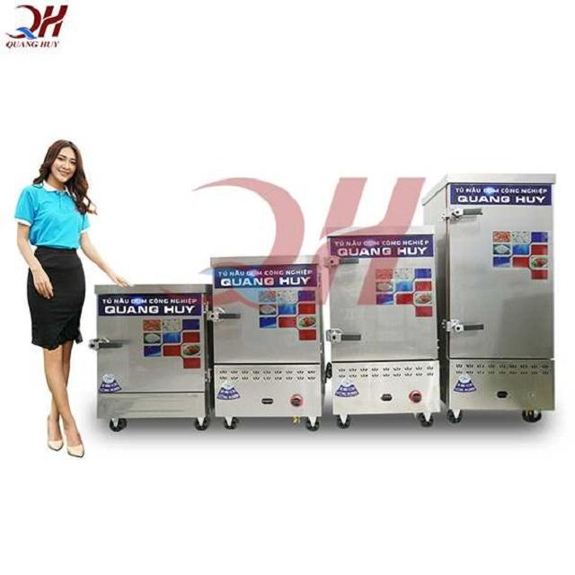 Mẫu tủ nấu cơm công nghiệp điện gas tích hợp