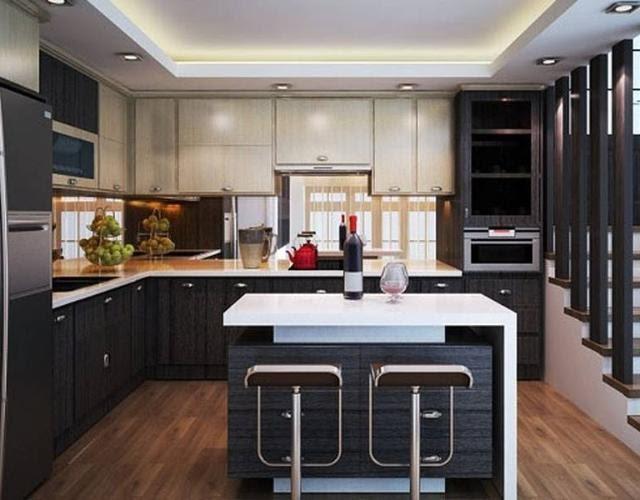 Gian bếp được thiết kế bởi thương hiệu Bếp Vip