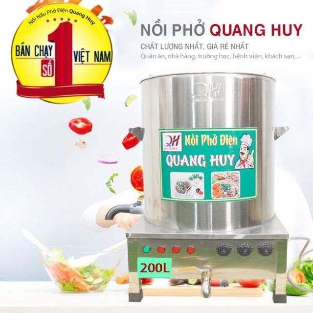 Nồi nấu phở 200 lít chính hãng tại Quang Huy