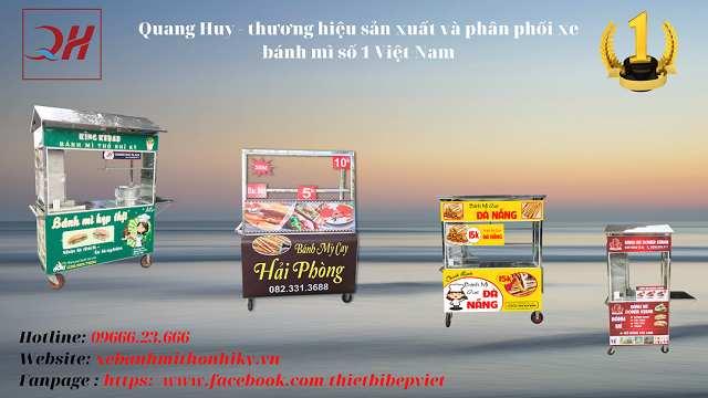 Quang Huy thương hiệu gia công xe bánh mì hàng đầu
