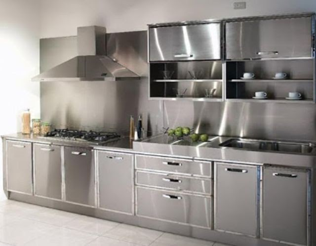 Tủ bếp inox công nghiệp
