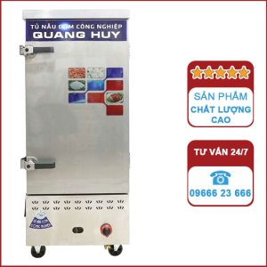 Tủ nấu cơm công nghiệp 12 khay dùng Gas