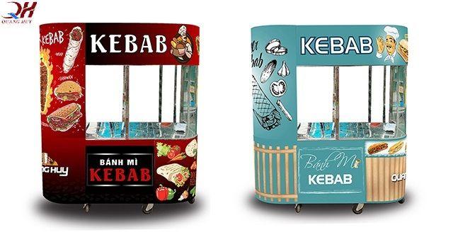 Hai mẫu xe bánh mì kebab nổi bật bán chạy nhất Quang Huy