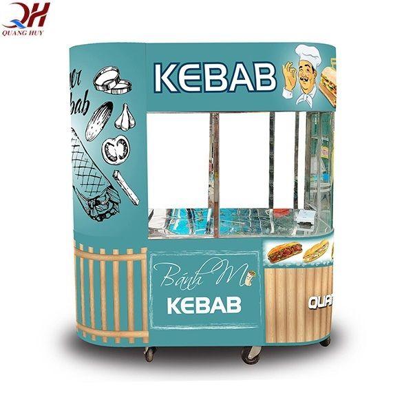 Mẫu xe bánh mì Doner Kebab mẫu mới tại Quang Huy