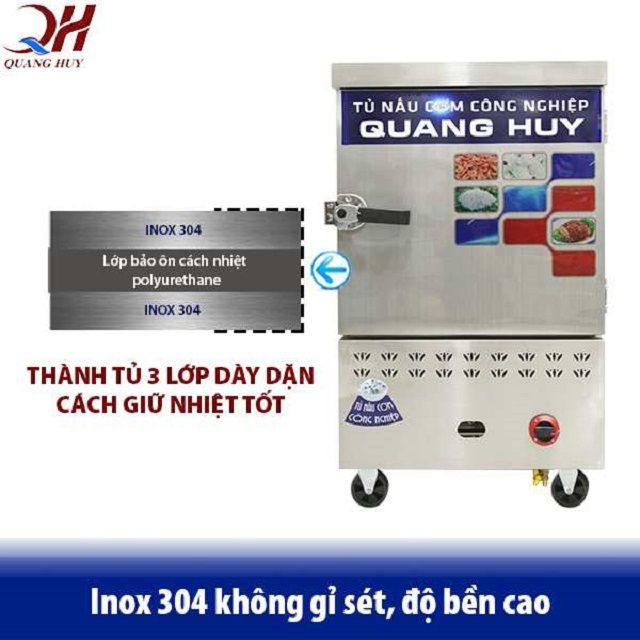 Chất liệu inox 304 dày dặn, bảo ôn cách nhiệt an toàn