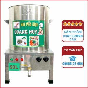 Nồi nấu phở điện 50l Quang Huy