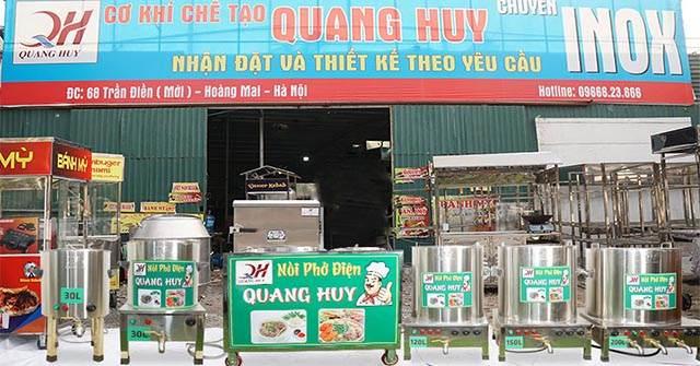 Quang Huy địa chỉ bán nồi điện nấu phở mâm nhiệt, thanh nhiệt uy tín